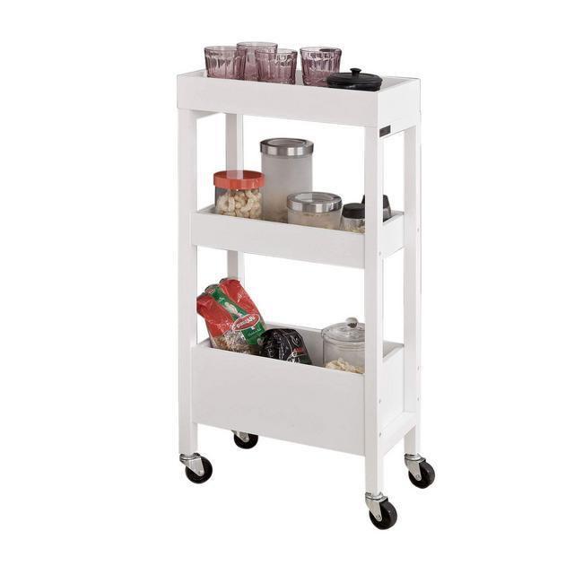 FKW49WCarrellino salvaspaziocarrellino per il bagno o cucina portaoggetti su rotelle IT