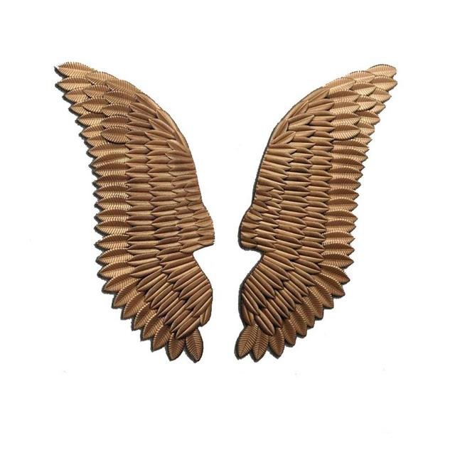 Ferro Battuto Vintage Angel Wings Decorazione Bar Cafe Style Decoration Industriale Ciondolo Decorativo Size 45×130cm