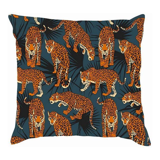Fodere per Cuscino per Cuscino in Lino di Cotone Africano Animali Selvatici esotici Tropicali federe