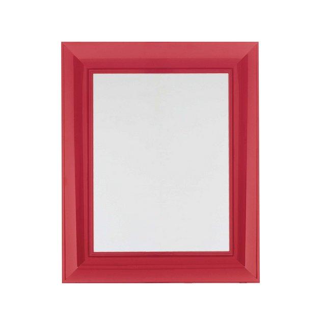 Francois Ghost Specchio Rosso plastica rettangolare