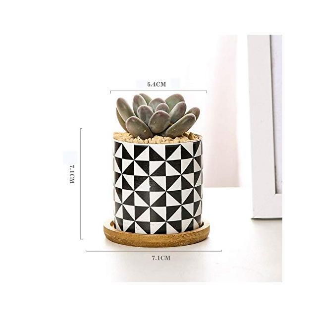 GETSO Geometria Ceramica Stile succulenta Serial fioriera Vaso da Fiori Bonsai Vaso da Fiori Vaso Contenitore Decorazione del Giardino Type08