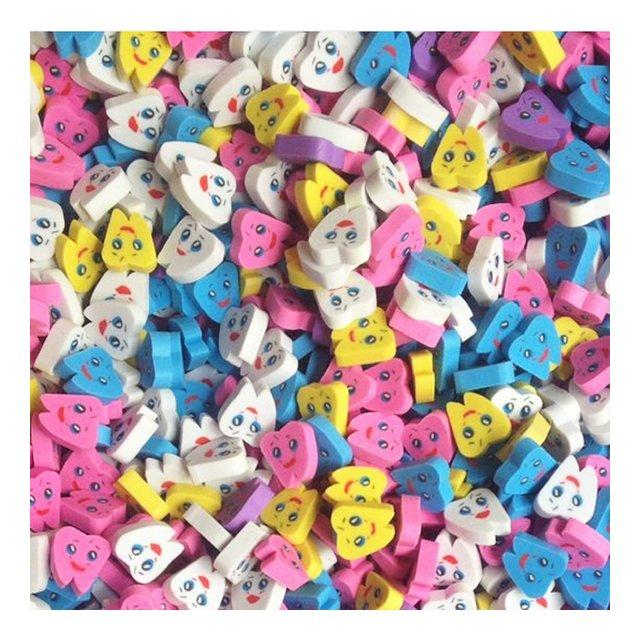 Gomme gommate a forma di dentesacchetto da 50 pezzi per bambino