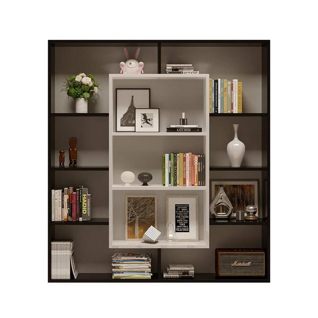 HOMIDEA Venus Libreria Scaffale per Libri Scaffale per UfficioSoggiorno dal Design Moderno NeroBianco