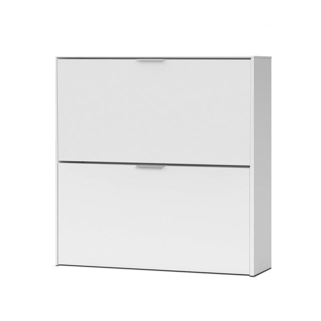 Habitdesign 007873O Scarpiera Basic 2 porte Scarpiera stretta in finitura bianca dimensioni 76 cm altezza x 75 cm lunghezza x 22 cm profondità