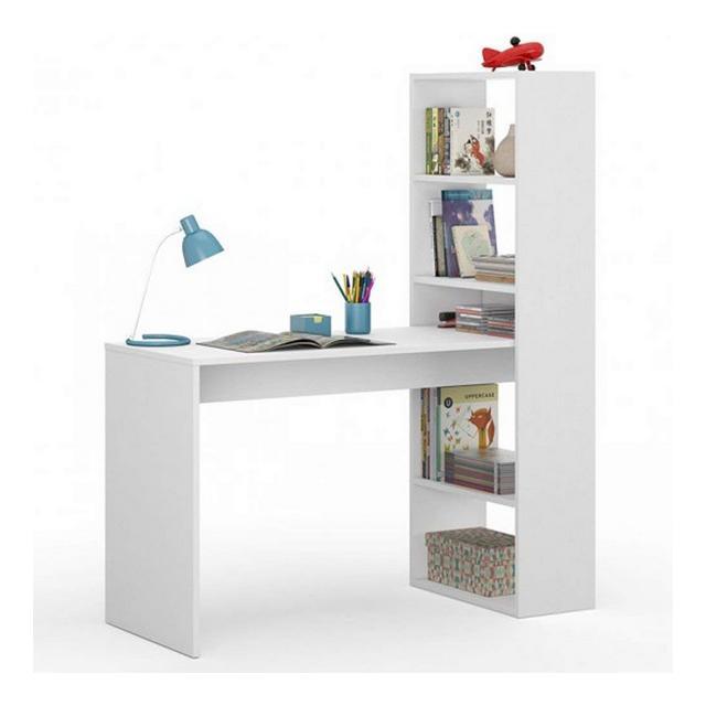 Habitdesign scrivania con scaffale deskandsit mju2010004Bianco Artik