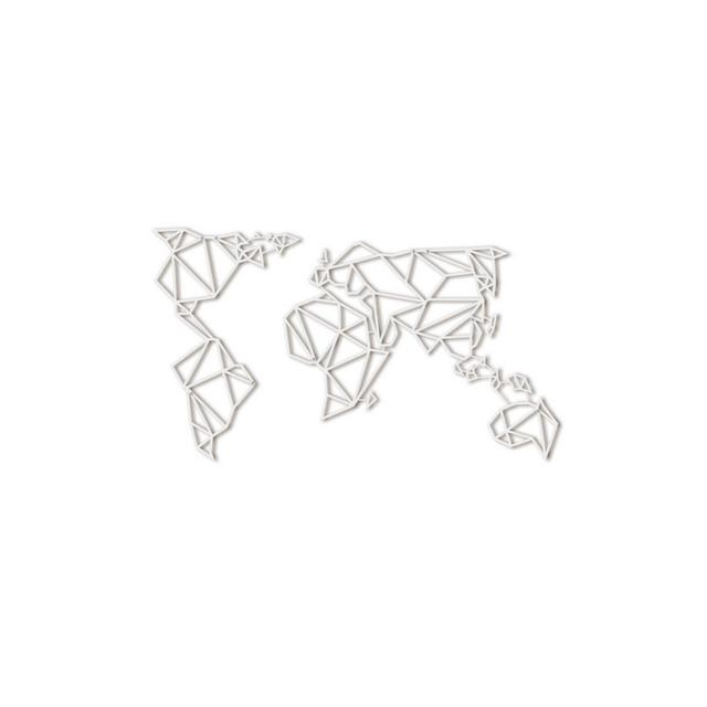 Hoagard Metal World Map White Mappa Del Mondo Di Hoagard Metal Bianca 80×140 Geometrica Metal Wall Art E Decorazione Murale Regalo Di tale