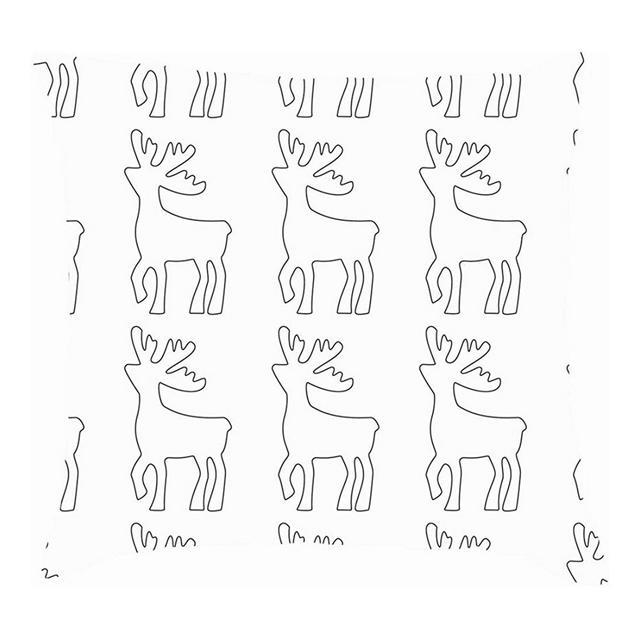 Ico della siluetta dei Cervi Animali Fau Selvatica Cuscini per Cuscini Abstractthrow Fodere per Cuscini in Cotone e Lino Federe
