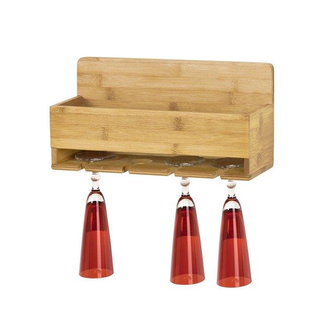 Il portabottiglie e Bicchieri da PareteScaffale portabottiglie in bambùFRG73NIT