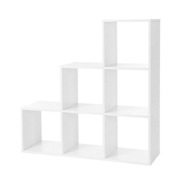 LBC63WT Libreria Scale 6 Scomparti a cubo mensola per Esposizione in Legno scaffale Indipendente 975 x 975 x 29 cm Colore Bianco