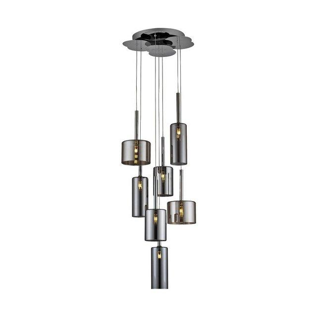 LED Alize Lampada a Sospensione Glass G4 140 W Argento 37 x 120 cm