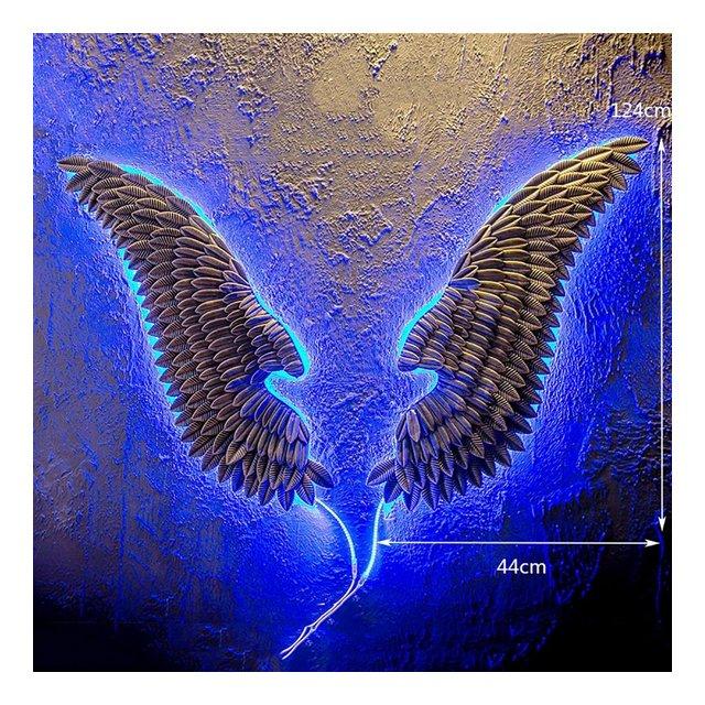 LOFT Angelo industriale ali di angelo Decorazione ciondolo ristorante parete ali di angelo Bar decorazioni da parete in ferro ciondolo decorativo Colore B