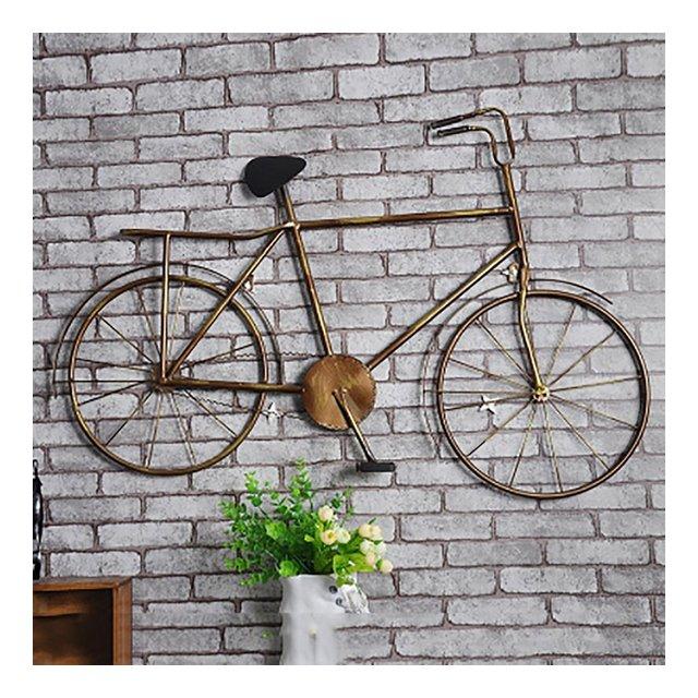 LOFT Bar decorativo per soggiorno decorativo per biciclette vintage Internet Café Ferro Decorazione a parete vento industriale L92 * H62cm ciondolo decorativo Colore A