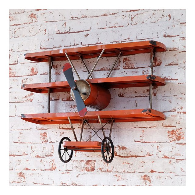 LOFT Industrial Wind American Aircraft Head Model Wall Decor Restaurant Bar Retro Aircraft Wing Persolity Decorazione della parete ciondolo decorativo