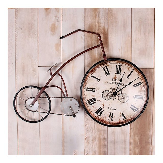 LOFT Vintage Bicycle Decorative Frame Clocks Salotto Bar Internet Cafe Ferro Industriale Wind Wall Cornice decorativa ciondolo decorativo Colore B