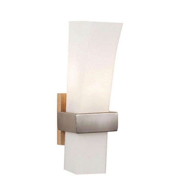 Lampada A Parete Sedir Colore Cromo in Metallo Vetro OpalinoPer Salotto Soggiorno cucina Camera Ufficio E27 10 x 33 cm