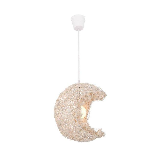 Lampada A Sospensione Aydede Colore Bianco in Legnoper Soffitto Soggiorno UfficioPendente Luce E27 40 cm