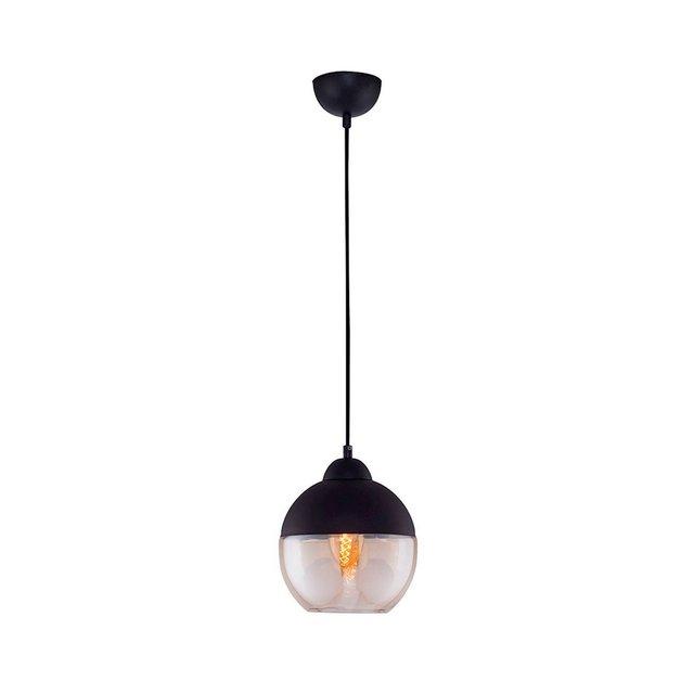 Lampada A Sospensione Bray Colore Nero in VetroPer Salotto Soggiorno cucina Camera Ufficio E27 Taglia unica