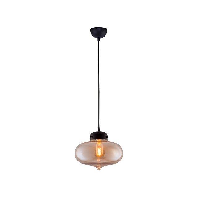 Lampada A Sospensione Criss Colore Miele in VetroPer Salotto Soggiorno cucina Camera Ufficio E27 Taglia unica