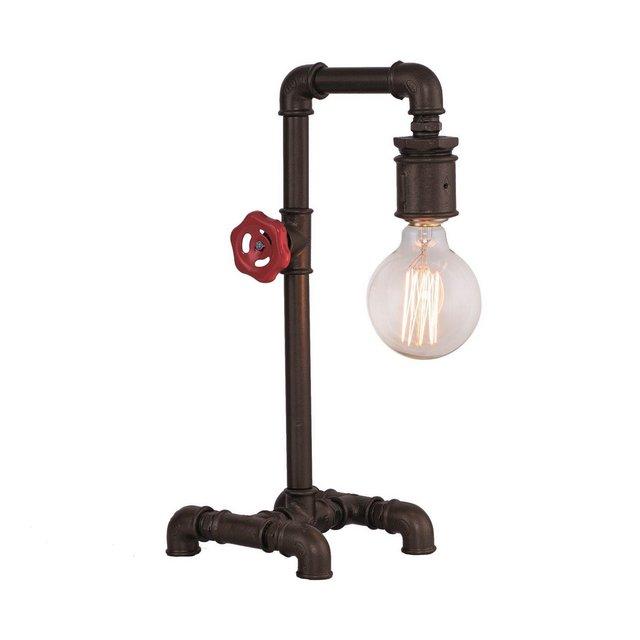 Lampada Da Tavolo Metal Colore Marrone Scuro in MetalloPer Salotto Soggiorno cucina Camera Ufficio E27 40 W Taglia unica