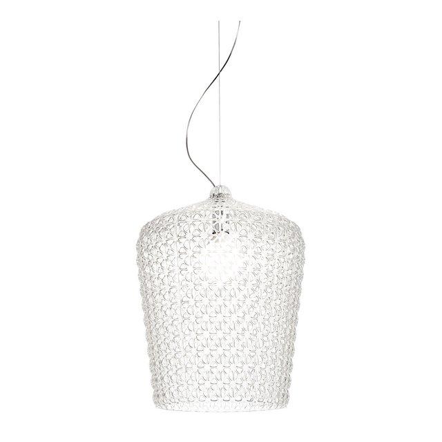 Lampada Kabuki led plastica;tecnopolymère thermoplastique trasparente