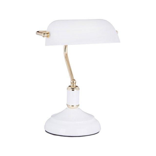 Lampada Ministeriale Scrivania E27 40 W BiancoOro