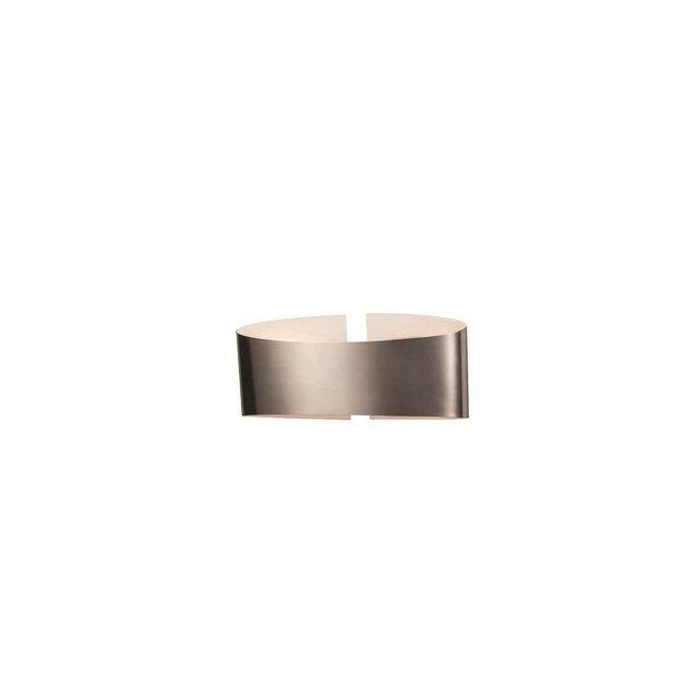 Lampada a Parete Belt Colore Cromo in Metalloper Salotto Soggiorno cucina Camera Ufficio E14 Opaco 30 x 8 cm