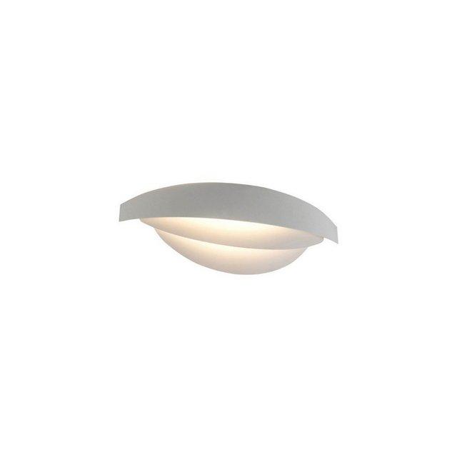 Lampada a Parete Mask Colore Bianco in MetalloPer Salotto Soggiorno cucina Camera Ufficio E27 38 x 13 cm