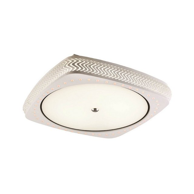 Lampada a Soffitto Samara Metallo Bianco 48 x 48 x 10 cm