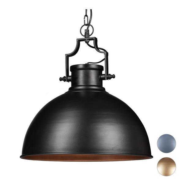 Lampada a Sospensione Design Industrial Look Shabby per Sala da Pranzo LED E27 Lampadario  405 cm Nero