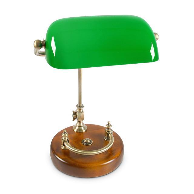 Lampada con Paralume in Vetro E27 40 W Verde 45 x 34 x 25 cm