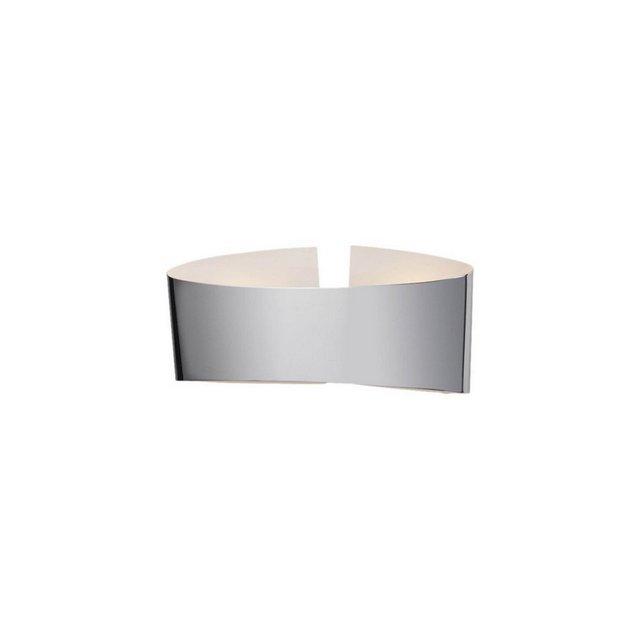 Lampada da Parete Belt Colore Cromo Opaco in Metalloper Salotto Soggiorno cucina Camera Ufficio 30 x 8 cm