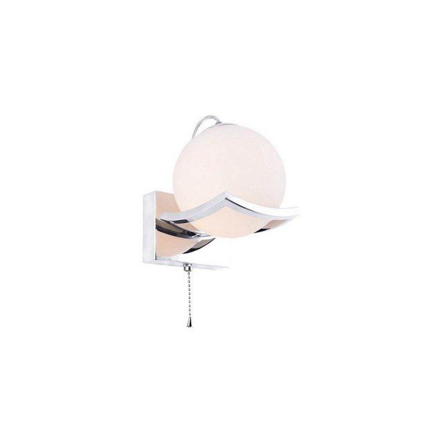 Lampada da Parete Pepo Colore Cromo in Metallo VetroPer Salotto Soggiorno cucina Camera Ufficio E14 12 x 15 cm