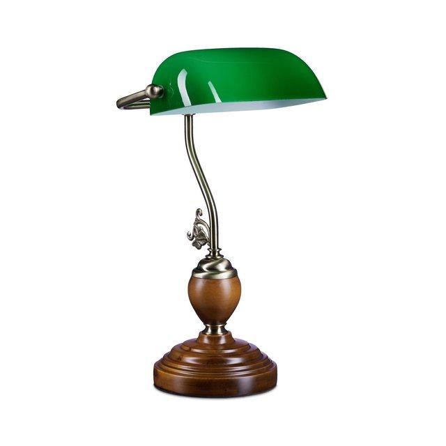 Lampada verde con paralume in vetro E27