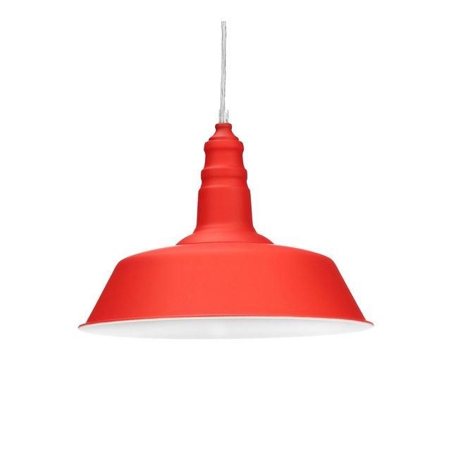 Lampadario Sospensione in Stile Industriale Lampada da Soffitto HxLxP 116 x 36 x 36 cm Rosso
