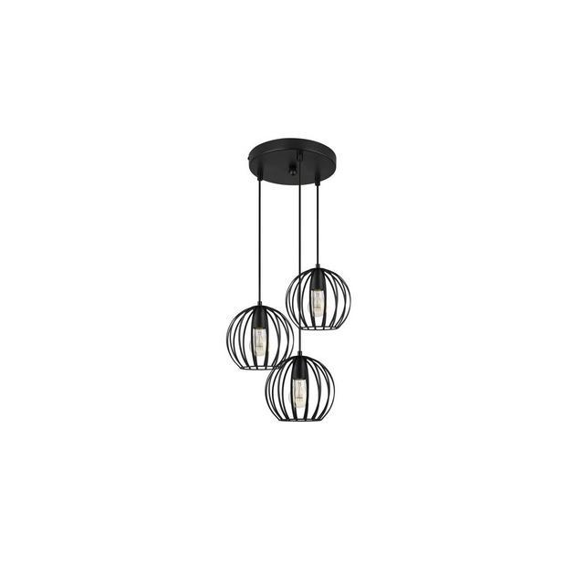 Lampadario a tre luci pendenti lampadario a sospensione vintage industriale metallo nero design cucina soggiorno camera da letto