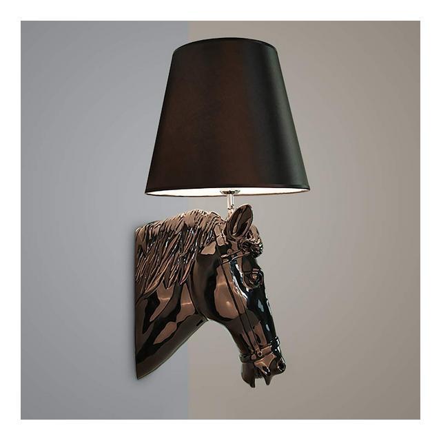 Lampade da Parete Lampada da Parete Testa di Cavallo Applique da Parete Semplice Decorazione murale Illumizioni per pareti Colore Nero