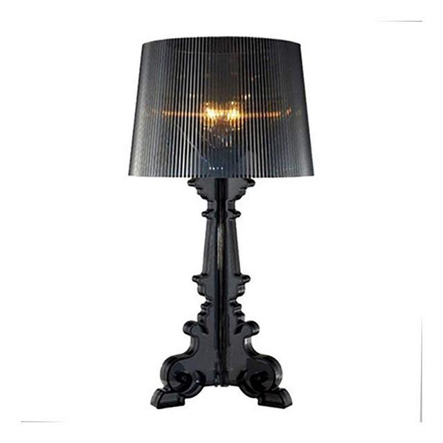 Lampade da lavoro Lampada da tavolo in acrilico barocco adatta for comodino camera da letto Soggiorno Studio Ristorante Bar Cafe Lampada da tavolo nera altezza 51 cm Lampade e illumizione