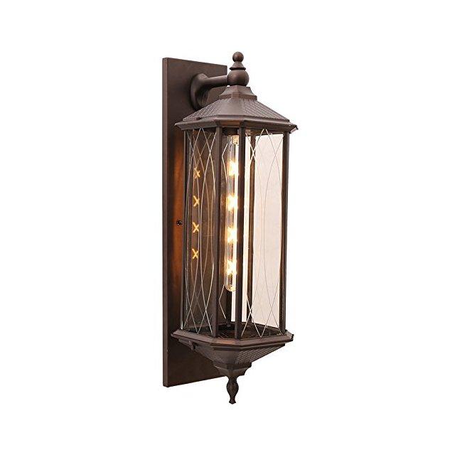 Lampade da parete Applique da esterno per esterni in alluminio a tenuta stag per esterni Apparecchi di illumizione a parete Color Brown Size A