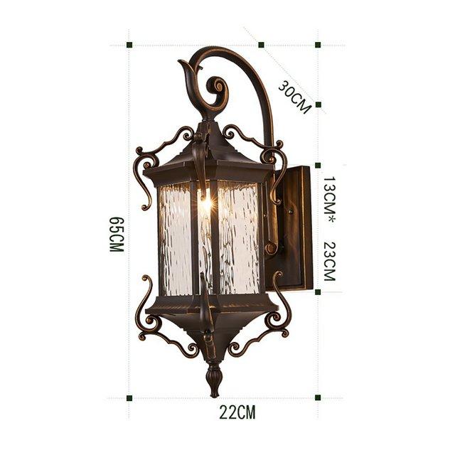 Lampade da parete Lampada da parete ester retro impermeabile patio esterno balcone corridoio villa lampada da parete Apparecchi di illumizione a parete Size 65 * 30 * 22cm