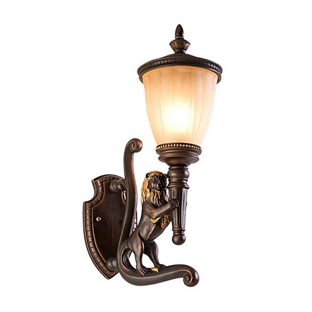 Lampade da parete Leone lampada da parete ester retro impermeabile cortile sala parete ester balcone lampada da parete Apparecchi di illumizione a parete Size B