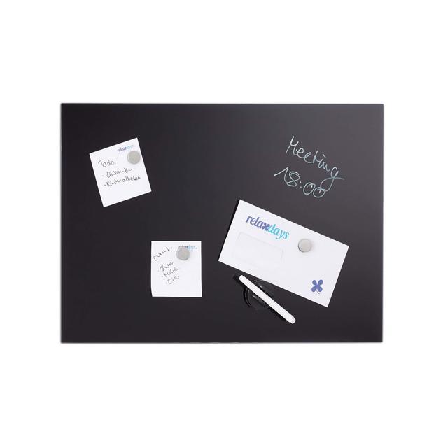 Lavag Magnetica in Vetro Scrivibile Bacheca da Parete 100×60 cm 3 Calamite Penrello Nera