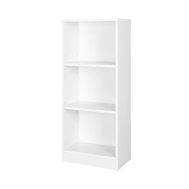 Libreria di Legno a 3 Piani con Ripiani Regolabili Organizza Documenti per Soggiorno Camera da Letto Cameretta e Ufficio