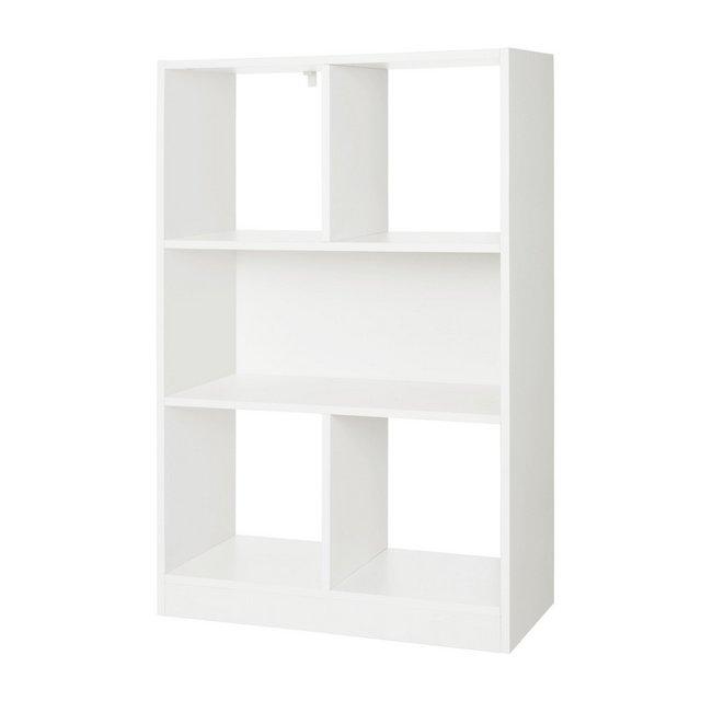 Libreria di Legno con Cubi Aperti e Ripiani Scaffale Autoportante e Armadio da Esposizione