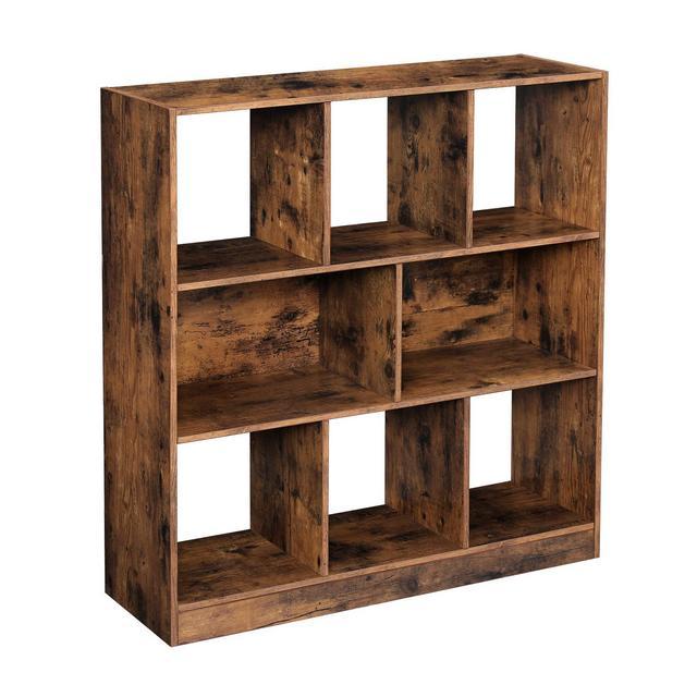 Libreria di Legno con Cubi e Ripiani Scaffale Autoportante da Esposizione per Soggiorno Camera da Letto Cameretta