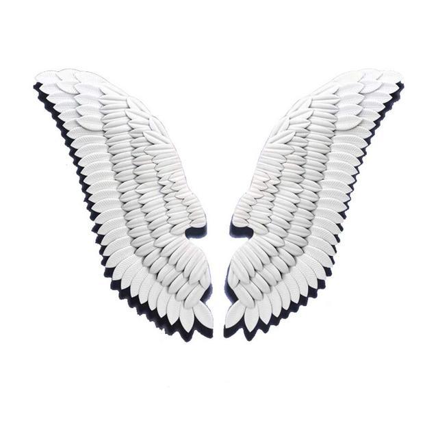 Loft Angel Wings La Decorazione della Parete Bar Cafe Ferro Battuto Decorazione Pezzo Unico 40 × 110 Centimetri Ciondolo Decorativo