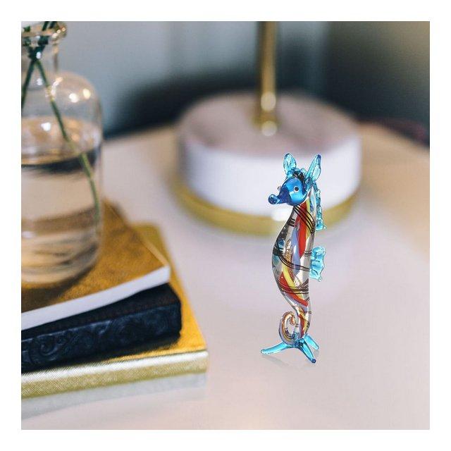 Méduse Blu con Base Luminosa Glow nel Vetro Scuro Scultura Vetro Fermacarte Soffiato a Mano in Vetro Art Home Decoration Vetro 5
