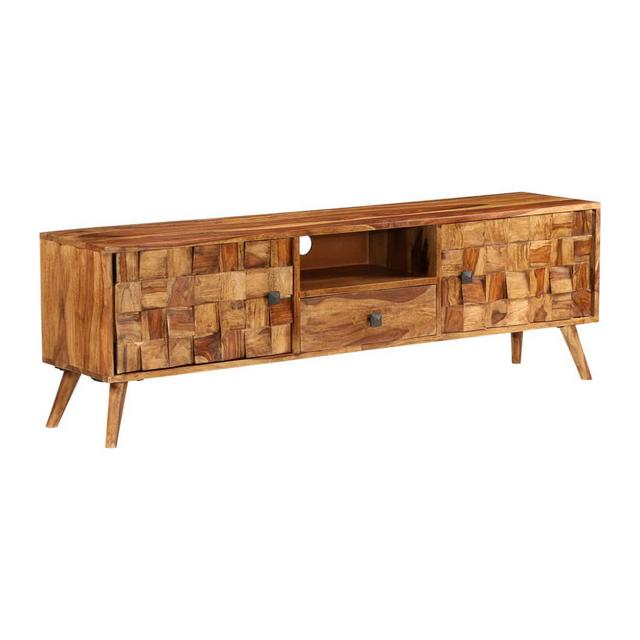 Massello di Sheesham Mobile TV con Finitura Miele 140x30x40cm Credenza