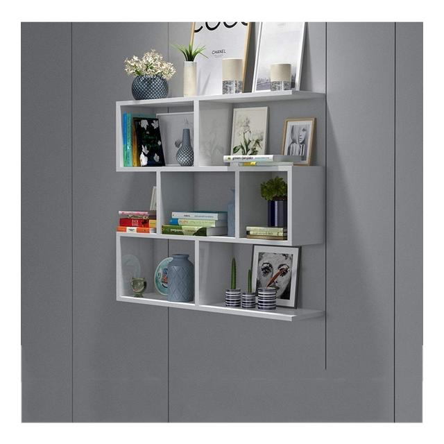 Mensola a Muro Appeso a Parete in Legno massello Camera da Letto Creative Kitchen Living Room Wine Rack 1029 Color A Size 60 * 15 * 97CM
