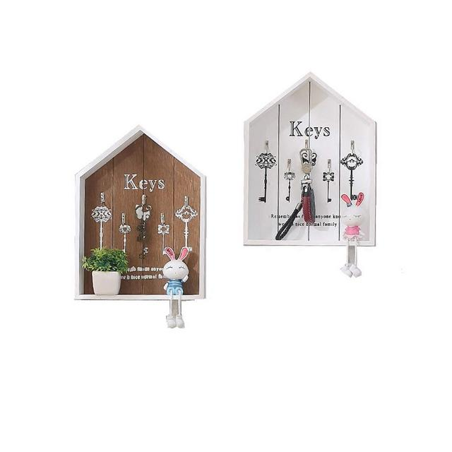 Mensola a Muro Creativo Moda Chiave Cornice casa Soggiorno Camera da Letto Decorazione della Parete cremagliera 34 * 25 * 55 cm 1109 Color White