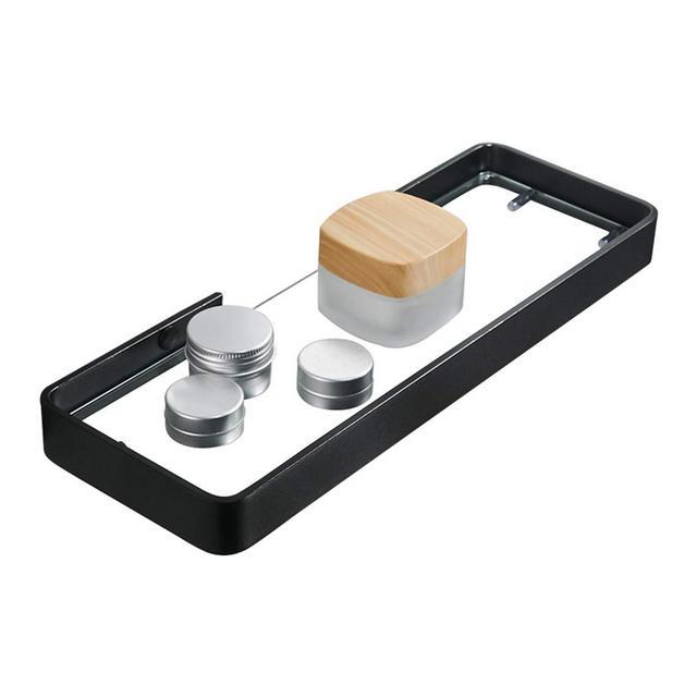 Mensola a Muro Nordic Simple Fashion Parete attrezzata Bagno Doccia Camera da Letto Mensole galleggianti Rack Cosmetici 1107 Color Punch Installation Size 45 * 12 * 3cm